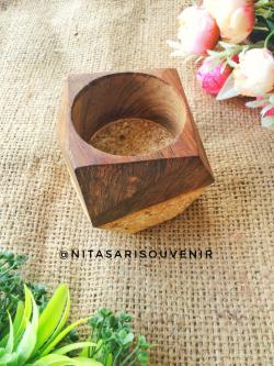 pot kaktus kayu partikel hexagon